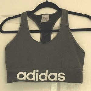 Adidas Grey Sports Bra Climalite